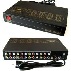 Distributore Audio-Video Stereo 1 In 8 Out Splitter