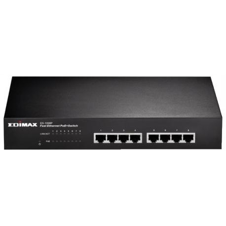 SWITCH ETHERNET 10/100 8 PORTE POE EDIMAX ES-1008P