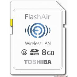 Toshiba Scheda di Memoria SD Flash Air, Wi-Fi, 8 GB, Bianco