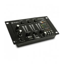 MIXER AUDIO SKYTEC STM-3020B 4 INGRESSI CON LETTORE MP3, 3 CANALI, OUT: 1 LINEA