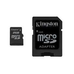 MICRO SD CARD 8GB (T-FLASH) CLASS 10 KINGSTON 45MB/s