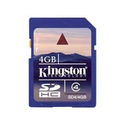 SECURE DIGITAL CARD 4GB CLASS 4 KINGSTON SD
